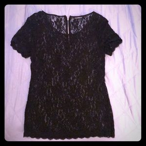 Great condition black lace top from Express